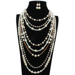 Long Sweater Chain Simulated Pearl Necklace Set Bohemian Fashion <b>Jewelry</b> <b>Accessories</b> Exaggerated Style Fashion Jewellery Sets