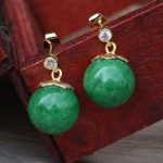 Lanseis Charm White Shell Preal Green Stone Earrings,1Pcs Unique Party, Wedding, Spring Style, Design <b>Handmade</b> <b>Jewelry</b> For Women