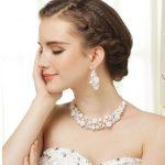 New Unique Fashion <b>Handmade</b> Porcelain Pearl Rhinestone Flowers Pearl Necklace Bride <b>Jewelry</b> Set Accessories Marriage