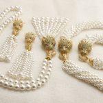 GrayBirds Luxury <b>Jewelry</b> Big Set Animal Panther Leopard Shell Pearl Zircon Green Color