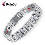 2018 Fashion Rhinestone <b>Bracelets</b> & Bangles For Women <b>Silver</b> Plated Crystal Magnetic Bio <b>Bracelet</b> Lady Jewelry OSB-1539SFIR