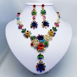 New Multicolor Crystal Flower Gold <b>Necklace</b> and Earrings Sets for Women 2018 Female Party Prom Bridal Wedding <b>Jewelry</b> Sets