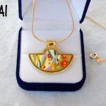 European and American style <b>jewelry</b> cloisonne <b>handmade</b> craft pendant 002