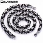 COSTOMIZE SIZE <b>JEWELRY</b> SET 8mm Stainless Steel Chain Byzantine Box <b>Necklace</b> Bracelet Chain Set Mens Chain Wholesale gift KS04
