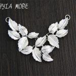 Fyla Mode Women Men Thai <b>Silver</b> Pendants <b>Jewelry</b> Vintage S925 Sterling <b>Silver</b> Leaf Pendant For Necklace Original Design Handmade