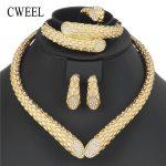 CWEEL Choker <b>Necklace</b> Bridal <b>Jewelry</b> Sets Indian African Beads <b>Jewelry</b> Set Ethiopian Costume Dubai Jewellery Set For Brides