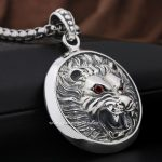 Huge Lion Knight King 925 Sterling <b>Silver</b> Pendant 8Q003(<b>Necklace</b> 24inch)