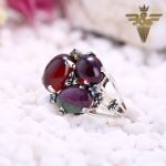 New Arrival!!Natural Gem Red Agate With Ruby And Zoisite And Garnet Zircon Peridot <b>Sterling</b> <b>Silver</b> 925 Ring Chamrs For Women