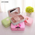 LVV HOME flocking leather printing <b>jewelry</b> box/Efficient waterproofing durable concise ome storage <b>supplies</b>