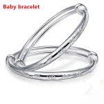Pure 100% <b>Silver</b> 999 <b>Silver</b> Chinese Ethnic Style Baby <b>Bracelet</b> Girl Boy Gift Child <b>Silver</b> Bangle
