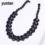 Yumten Blue Sandstone Women's Necklace Natural Stone Crystal Bohemian <b>Handmade</b> Bead Chain Exquisite <b>Jewelry</b> Party Gifts Ketting