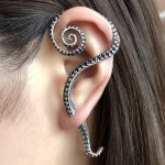 UMGODLY Retro 925 <b>Silver</b> Clip Earrings Gothic Punk Octopus Tentacles Earrings Prevent Allergy Women <b>Jewelry</b> 1PC For Left Ear