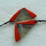 Natural Red River Jasper ,Labradorite Intarsia <b>Fashion</b> women Earrings Beads,37x18x4mm,7.3g