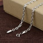 925 Silver Link Chain Necklace for Women Accessorice 3.8mm 45cm to 80cm Chain S925 Thai Solid Silver <b>Jewelry</b> <b>Making</b> Necklaces