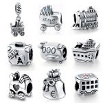 Fit Authentic pandora Bracelet 925 Sterling Silver Charms Original DIY Vehicle Toys <b>Antique</b> Beads Pendant <b>Jewelry</b> for Boy Gifts