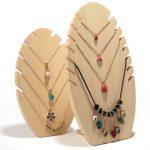 Wood Pendant Display Holder <b>Necklace</b> Display Bust Wood <b>Jewelry</b> Display Holder <b>Necklace</b> Display Rack