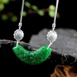 LouLeur 925 <b>sterling</b> <b>silver</b> Emerald pendants necklace handmade ethnic natural green Emerald necklace for women charms <b>jewelry</b>
