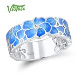 VISTOSO Silver Ring For Women 925 Sterling Silver Fashion Rings for Women Cubic Zirconia Ringen Party <b>Jewelry</b> Enamel <b>Handmade</b>