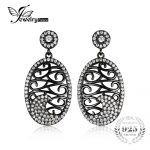 JewelryPalace Fashion Oval 0.9ct Dangle <b>Earrings</b> 925 Sterling <b>Silver</b> Black Gold Plated Fine Jewelry For Women
