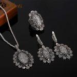 Sellsets High Quality Antique Silver Color <b>Fashion</b> Jewellery Vintage Black Rhinestone <b>Jewelry</b> Sets