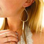 Gold Hoop Earrings <b>Handmade</b> <b>Jewelry</b> Vintage Boho Hammered Tassel Brincos Pendientes Aros Aretes Oorbellen Earrings for Women