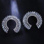 Women Stud Earrings Fine Quality Cubic Zirconia 144 pcs CZ Prong Setting Bridal <b>Wedding</b> Roman Fashion Earrings 2017 New <b>Jewelry</b>