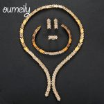 OUMEILY <b>Jewelry</b> Sets Elegant Women African Beads <b>Jewelry</b> Set Wedding Engagement Bridal <b>Jewelry</b> Sets Indian Gold Color Jewellery
