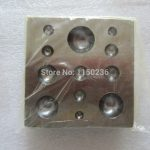 free shipping bell <b>making</b> Square Dapping Block For <b>Jewelry</b>, dapping punch tool,<b>Jewelry</b> tool,Goldsmith mold tools Lapidary tools