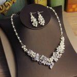 Jonnafe Generous Silver Rhinestone <b>Jewelry</b> Set Necklace Earrings <b>Handmade</b> Pearl wedding <b>Jewelry</b> Sets For Bride With Hair <b>Jewelry</b>