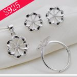 Flower Shape Pearl diy Accessories Sterling Sliver Pendant Ring Earrings Oyster Party Pearl <b>Jewelry</b> <b>Making</b>