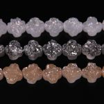 3 Color choice Shiny Aura Druzy Beads Strand,16mm Flower Druzy Stone Beads,Loose Druzy Geode Raw Drusy <b>Jewelry</b> Making <b>Supplies</b>