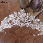 Mamojko Luxury Silver Crystal Wedding Beads Crown For Women <b>Fashion</b> Bride Hair Dress Accessory Handmade Bridal Tiara <b>Jewelry</b>
