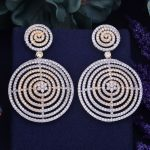GODKI 60mm Luxury Popular annual-rings CircleFull Mirco Paved Cubic Zircon Naija <b>Wedding</b> Earring Fashion <b>Jewelry</b>