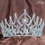 Vintage Tiaras Brides Crowns Handmade Clear Crystal Austrian Rhinestone Hair <b>Jewelry</b> <b>Wedding</b> Bridal Beauty Pageant Party Prom