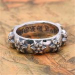 BESTLYBUY S925 Sterling Silver <b>Jewelry</b> Fashion Vintage Thai Silver Craft Cross Series Hexagram Star Ring