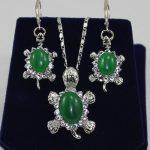 Prett Lovely Women's Wedding fashion new design <b>jewelry</b> gem tortoise earrings &pendant silver-<b>jewelry</b> silver-<b>jewelry</b> brinco