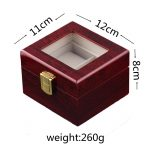 Luxury Watch Boxes MDF Wristwatch Packaging Box Rectangle Storage Boxes for Red 2/3/5/6/10/12Grids Expensive Watch Display