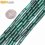 Gem-inside Grade A Natural Tube Green Smooth Malachite Spacer Beads For <b>Jewelry</b> <b>Making</b> Beads Strand 15″ DIY Jewellery