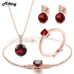 MoBuy Natural Gemstone 4pcs Jewelry Sets 100% 925 Sterling <b>Silver</b> For Women Party Classic Fine Jewelry V014EHNR