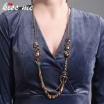 KISS ME New Insect Long Necklace 2018 Trendy Alloy Vintage Necklaces for Women <b>Fashion</b> <b>Jewelry</b>