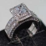 Fashion <b>Jewelry</b> <b>Handmade</b> 138pcs Gem 5A Zircon stone 14KT White Gold Filled Engagement Wedding Band Ring Bridal Set Sz 5-11