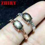 Women Natural Star Sapphire Stone Ring Genuine Solid <b>Silver</b> White Gold Plate Or Rose Gold Plated Real Gems <b>Jewelry</b> Rings ZHHIRY