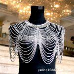 2018 new Luxury bridal shoulder chains noble <b>wedding</b> body chian <b>jewelry</b> full rhinestone women shoulder straps