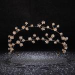 Gold Rhinestone Star Bridal Hairbands Wedding Hair Accessories <b>Handmade</b> Crystal Headband Women Party <b>Jewelry</b> Girl's Headpiece