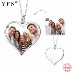 <b>Necklace</b> 2018 925 Sterling Silver Custom Photo <b>Necklace</b> Personalized Heart Pendants <b>Necklaces</b> Fashion <b>Jewelry</b> For Women GNX14626