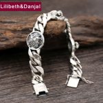 925 <b>Sterling</b> <b>Silver</b> Friendship Bracelet Men <b>Jewelry</b> Tiger Head Charm Bangle Bracelet Women Gift Fine <b>Jewelry</b> 2017 B21