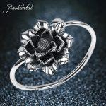 JIASHUNTAI Retro 990 <b>Sterling</b> <b>Silver</b> Bangles For Women Lotus Flower Vintage <b>Silver</b> <b>Jewelry</b> Female Handmade Opening