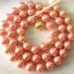 2017 8mm Pink South Sea Shell Pearl Necklace Pearl <b>Jewelry</b> Rope Chain Necklace Beads <b>Making</b> Natural Stone 18inch(Minimum Order1)