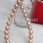 8-9mm AAA South Sea Pink Cultured Pearl Shell Necklace Rope Chain Beads <b>Jewelry</b> <b>Making</b> Natural Stone 18inch (Minimum Order1)