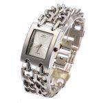 2Pcs G&D Women Wristwatch Quartz Watch Luxury <b>Silver</b> Watch Relogio Feminino Dress Watch Relojes Mujer Ladies Gifts Casual Clock